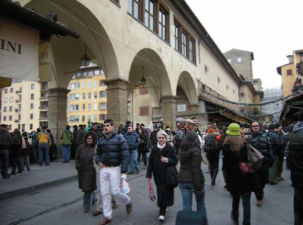 Rue interieure du Ponte Vecchio