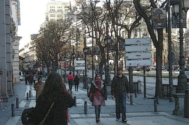 Marchant par Calle de Alcalá