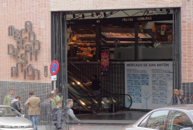 La porte du marché de San Antón