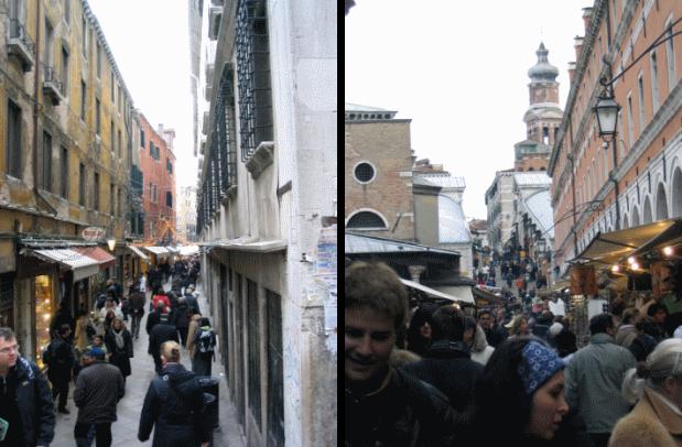 Itineraire de la gare de Venise a la place de Saint Marc