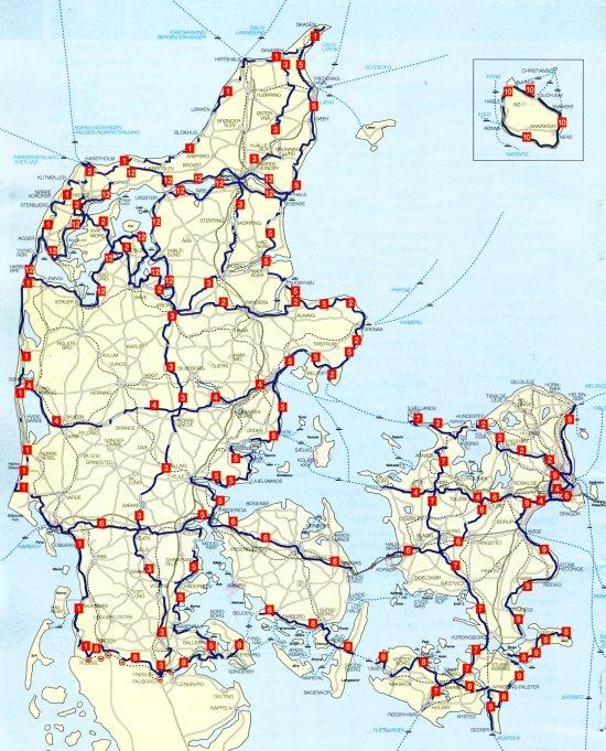 Les routes nationales cyclables du Danmark