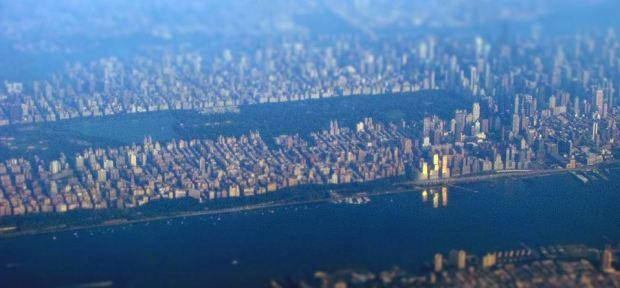 Manhattan, vue d'avion par blueridgekitties, disponible sur http://www.flickr.com/photos/blueridgekitties/4934291515/
