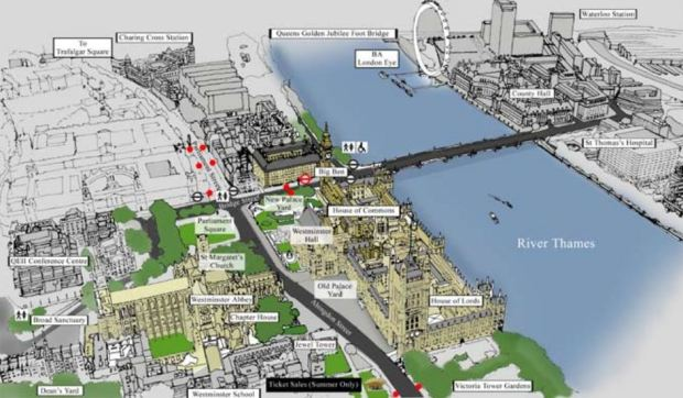 Le site et ses alentours, d'apres le document de proposition pour un Plan de Gestion de 2007