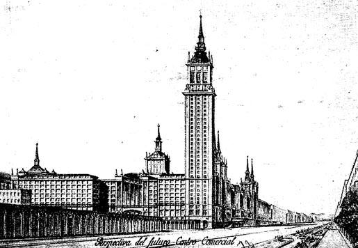Les origines d'Azca: le plan Bidagor dans l'apres guerre civile prevoyait deja une zone de bureaux