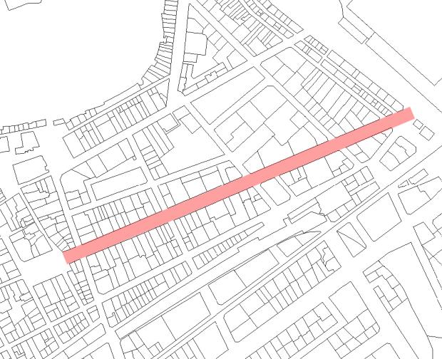 Calle Campos: 500 m de centralité commerciale