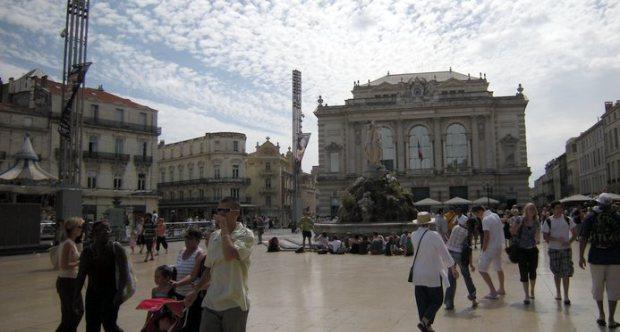 Montpellier. Place de la Comedie