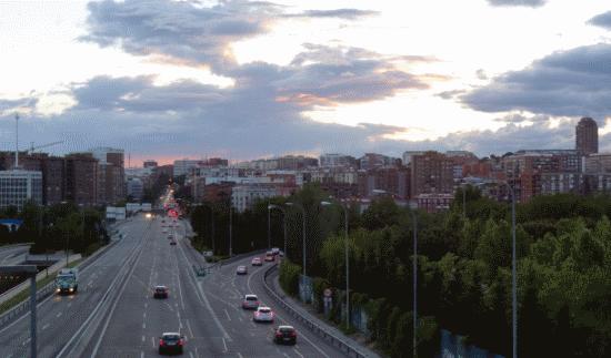 Le ciel vu depuis l'A3 (autoroute de Valence), en regardant vers le centre