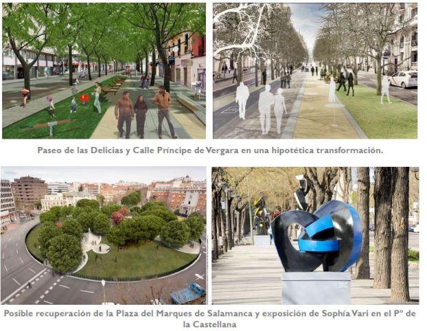 Images du rapport de présentation du Plan preliminaire sur le traitement de l'espace public
