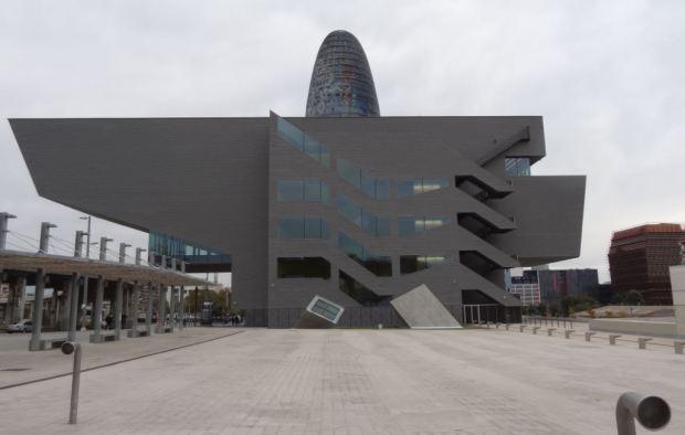 Le musée du Design vu du sud-ouest
