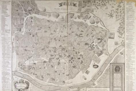 Seville en 1771. La ville a gagné en complexité, mais pas tellement.
