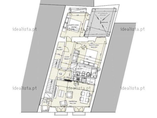71 m2 a Lisbonne, premier etage sans ascenseur