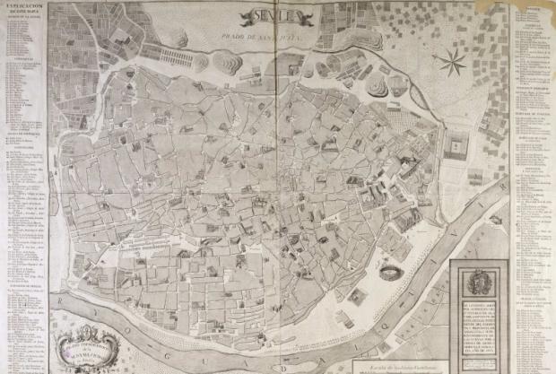 Seville en 1771, par Olavide. A la Bibliotheque Nationale d'Espagne
