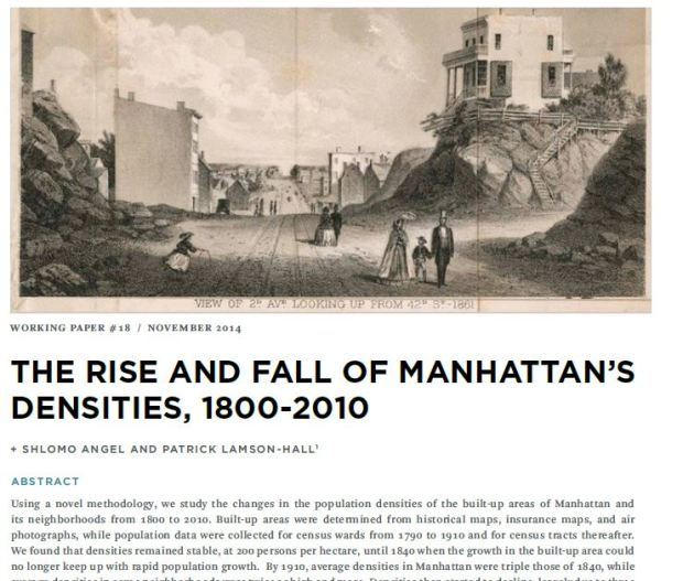 biblio 113- Manhattan densities