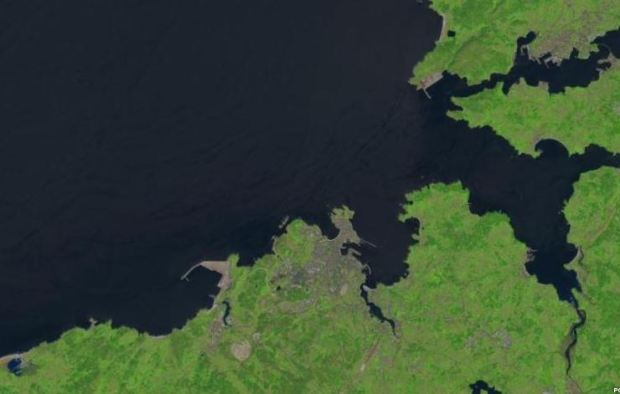Un endroit que je connais bien, vu du Landsat